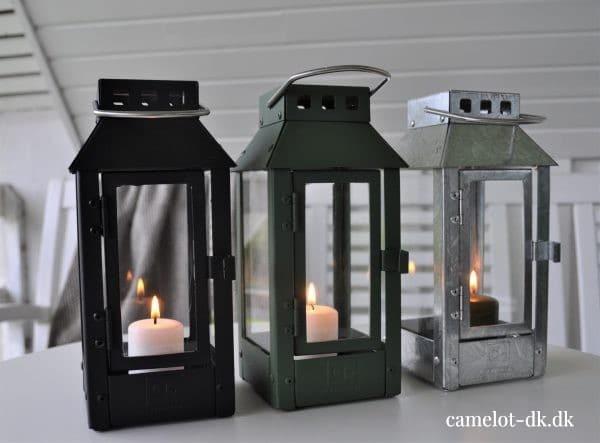 Lanterner i 3 forskellige farver